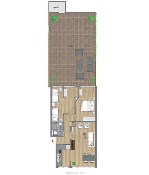 Appartement met tuin Den Haag-Centrum