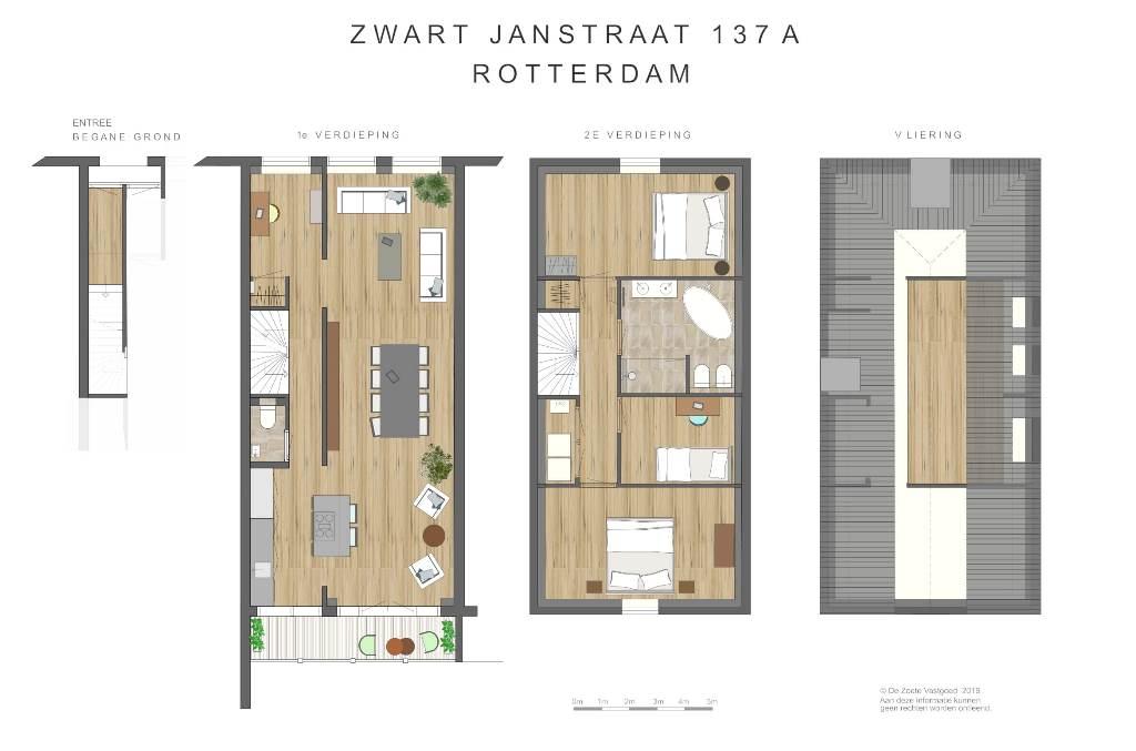 ZJ137-Dubbele Bovenwoning_plattegronden_kl